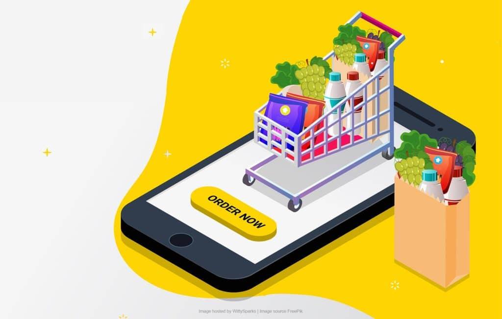 Online grocery store app