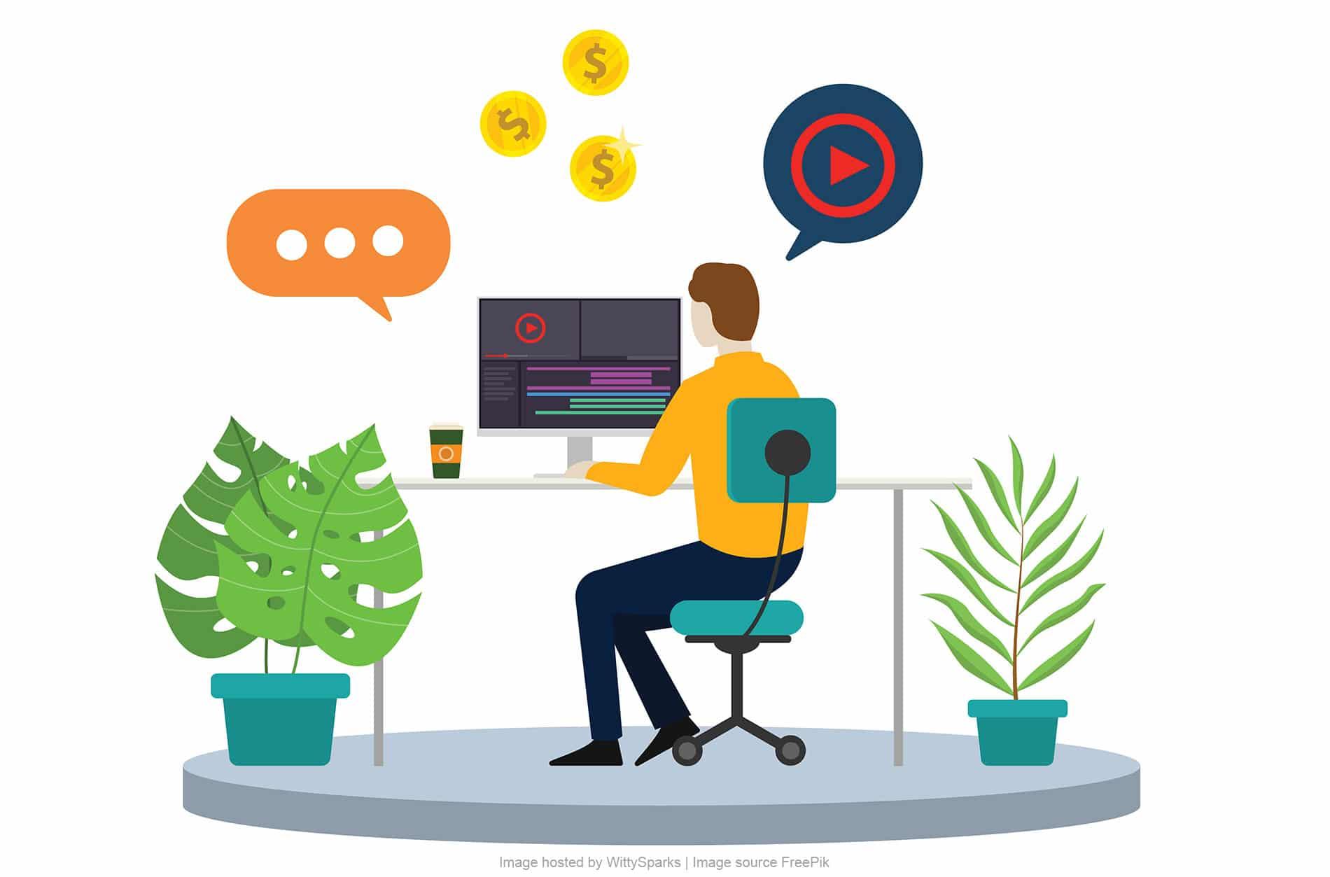 Online video creator or video maker