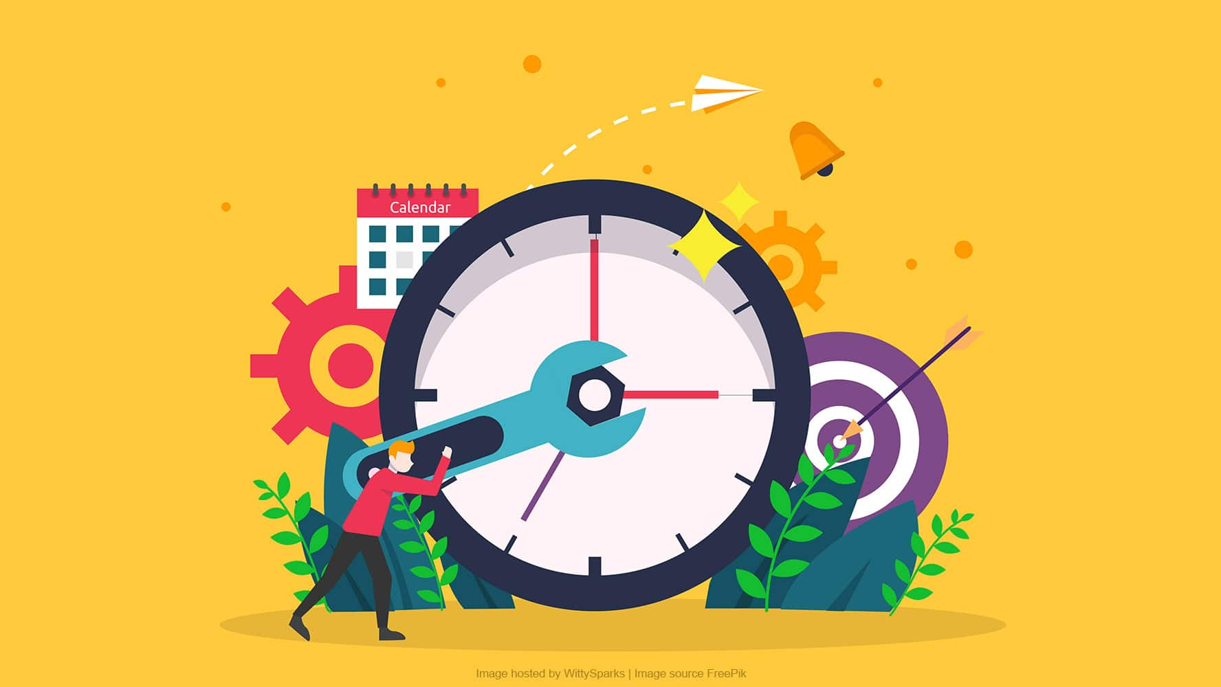 Time management procrastination concept and planning strategy business