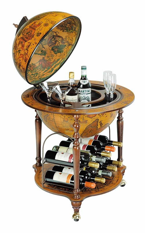 Curvy Bottom Auriga-Cellar Wine Rack Bar Globe.