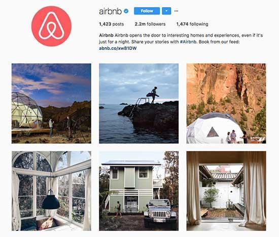 Airbnb - Instagram Account.