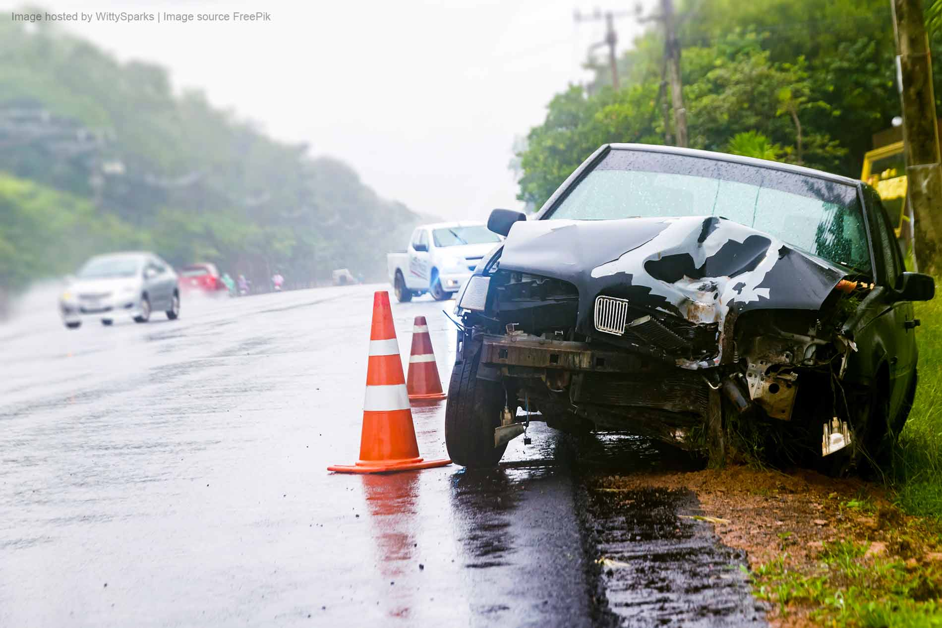 Car accident zone