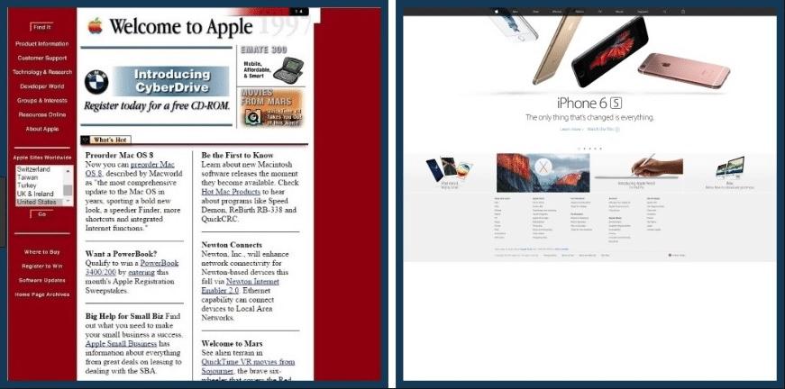 Apple Inc. Homepage Design Evolution