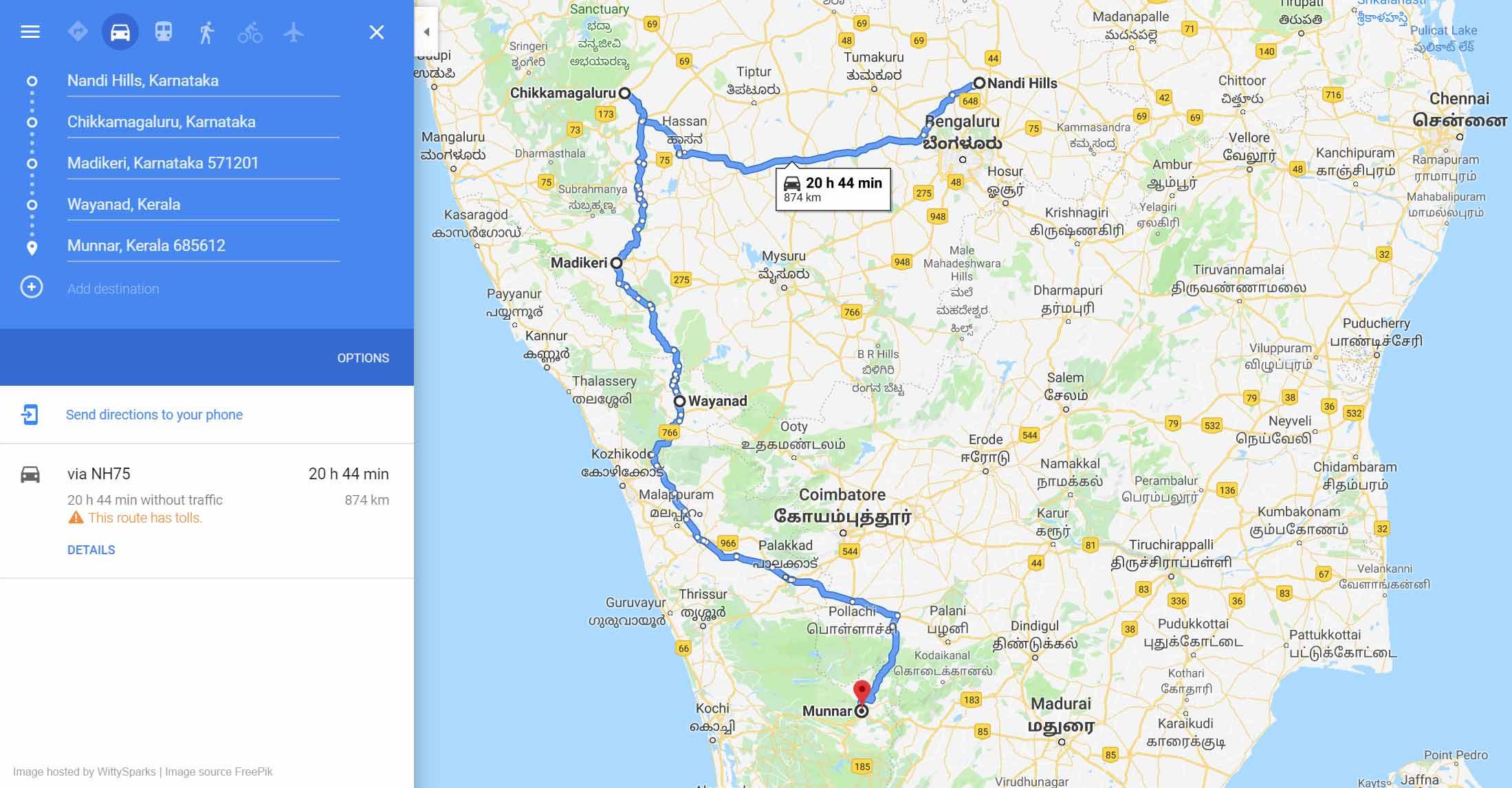 Bangalore Kerala Trip
