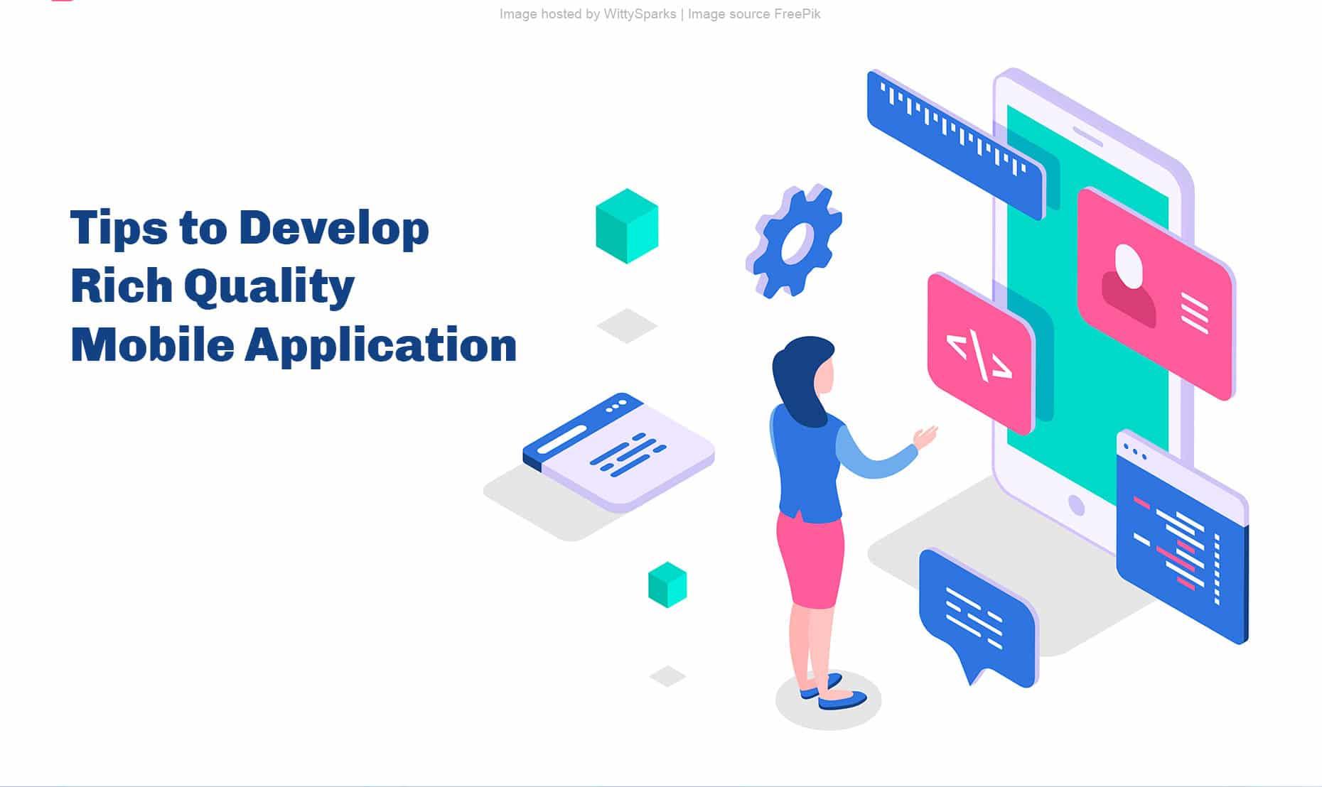 Mobile application development tips