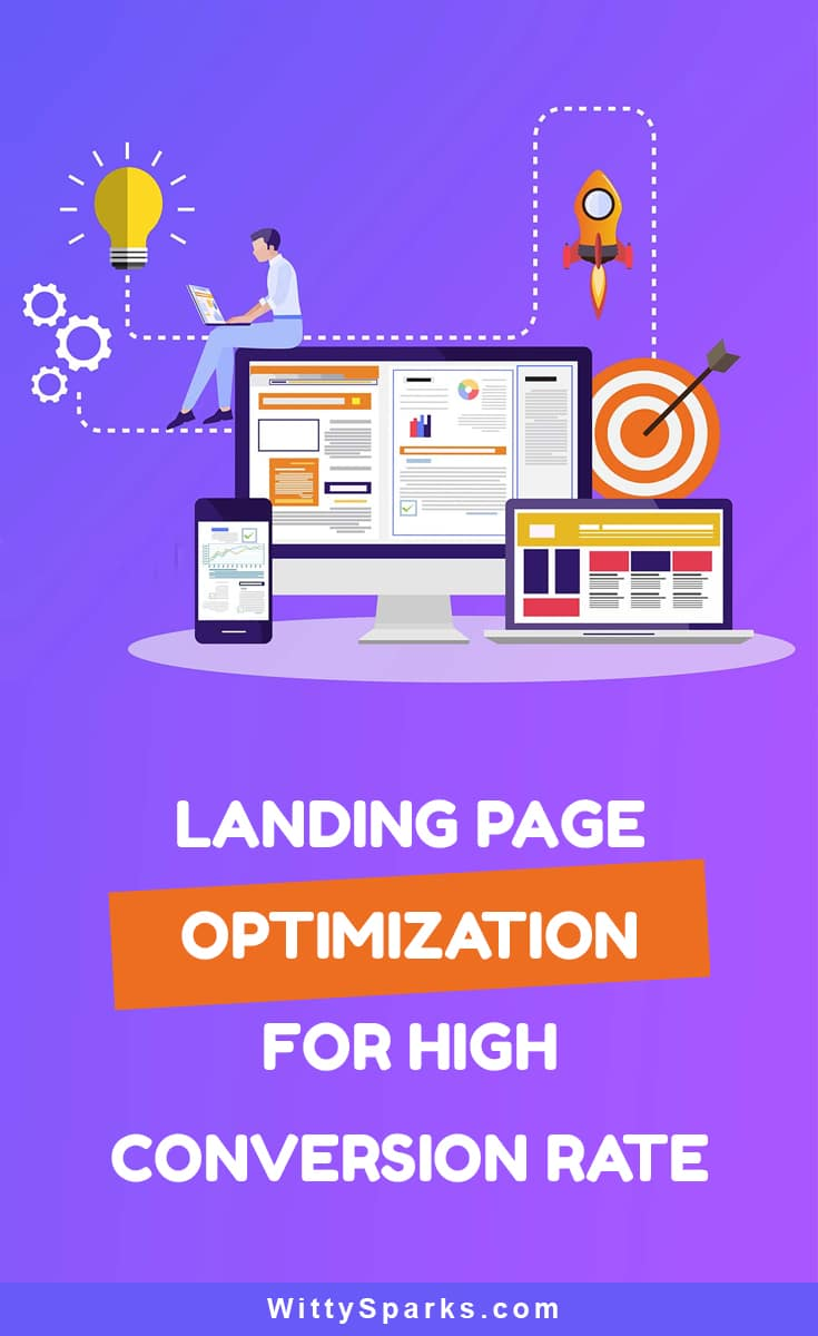 Optimize landing page for high conversion rate