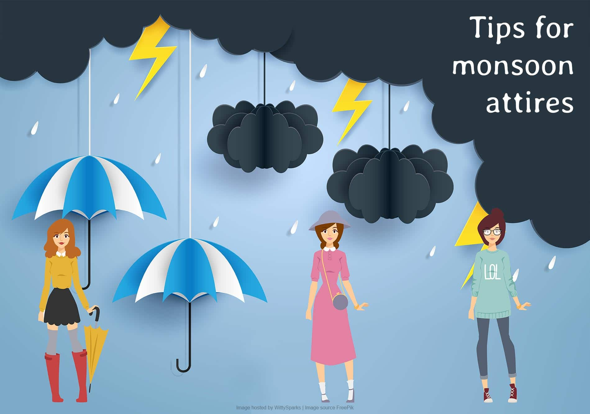 Fashion tips for monsoon attires