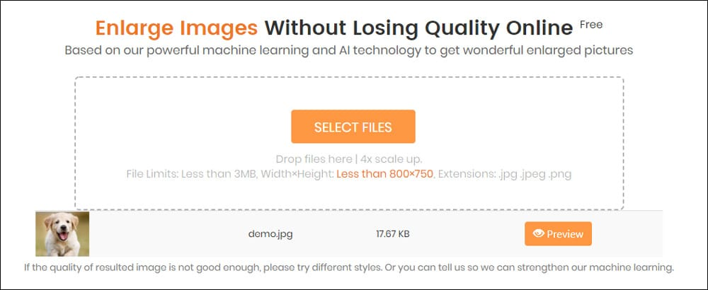 AI Image Enlarge - Enlarge Images Without Losing Quality Online for Free.