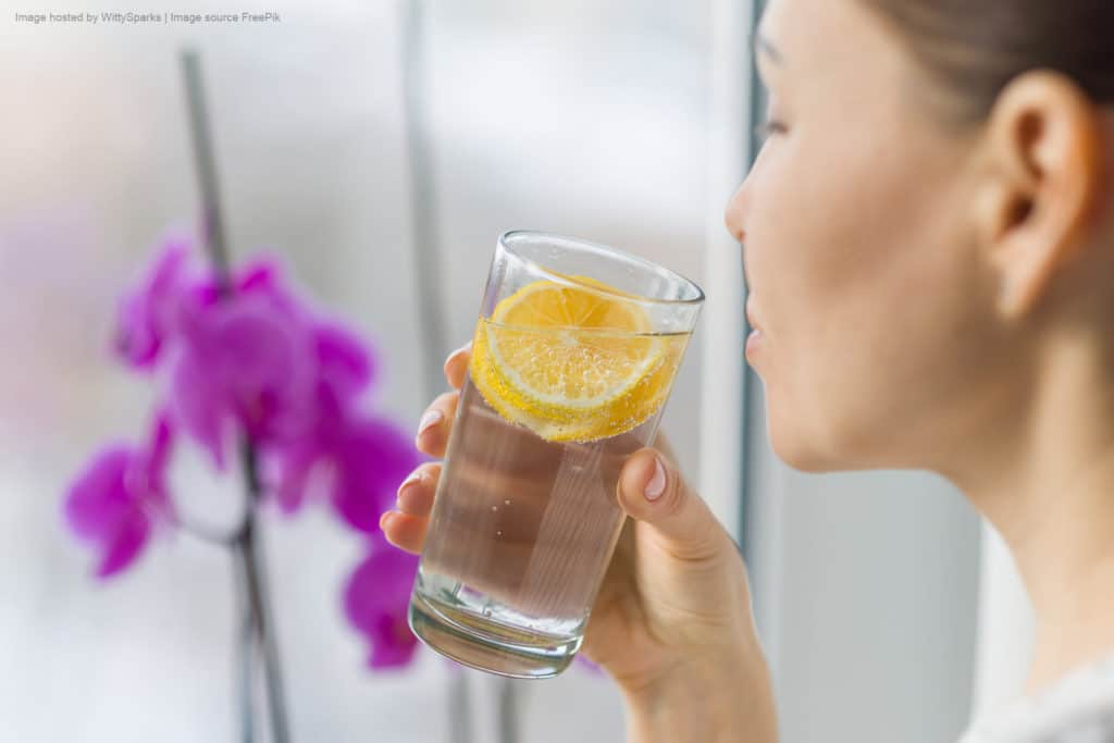 Drinking pure and healthy water