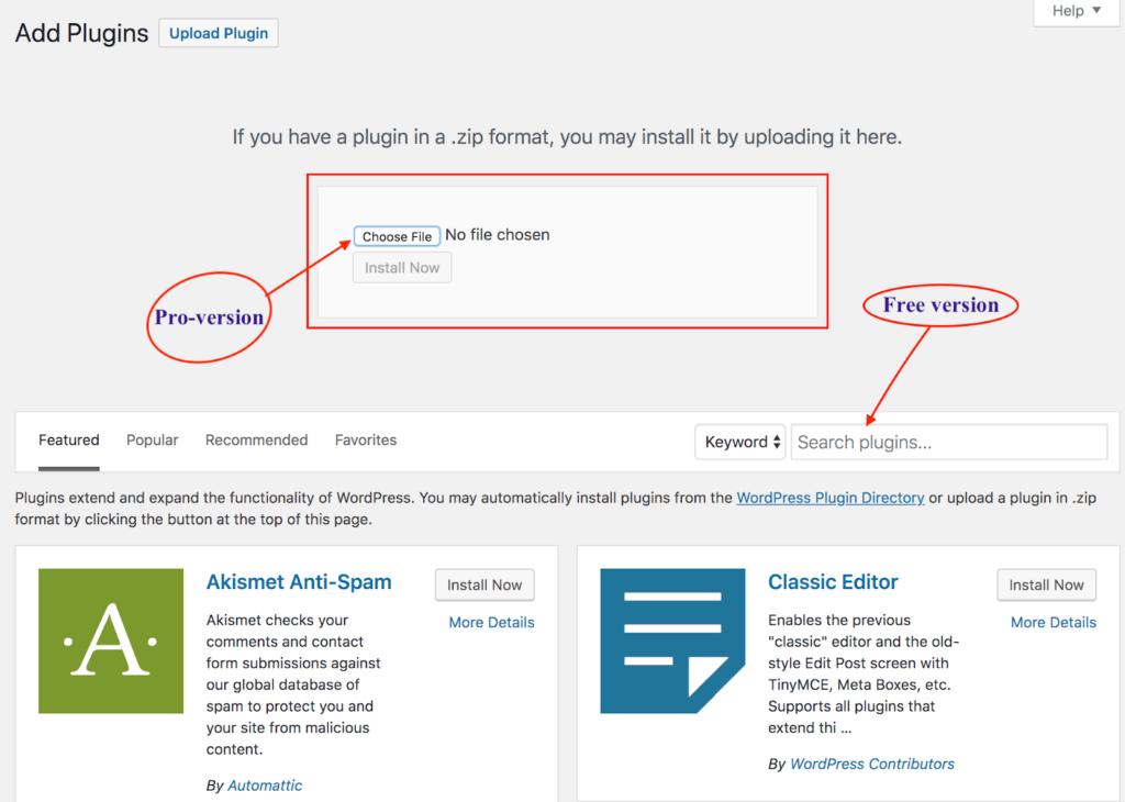 WordPress - Add Plugins