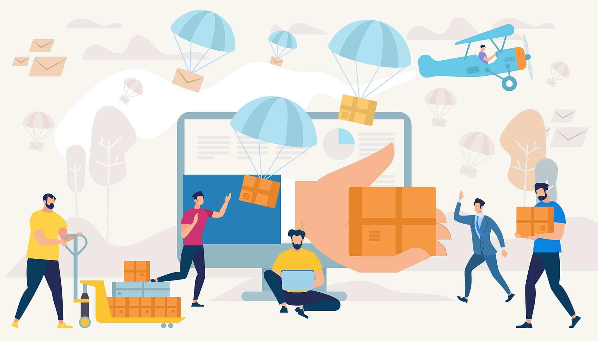 Online delivery software system