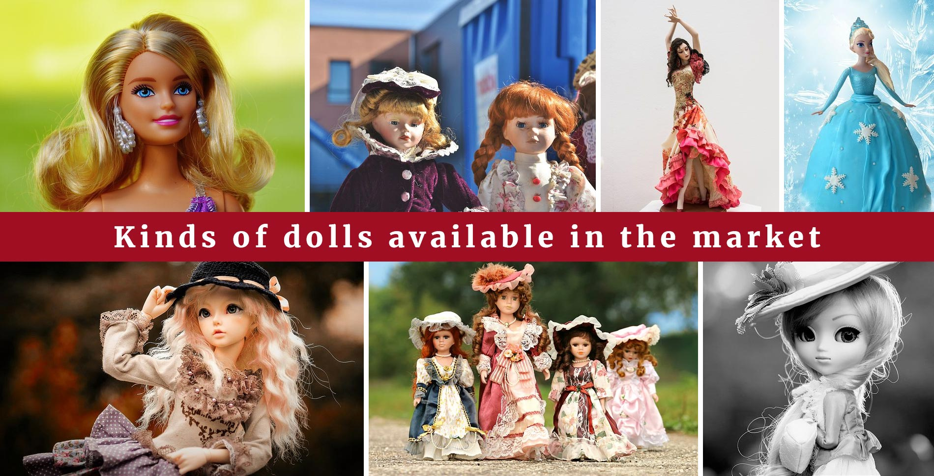 Baby dolls in the market