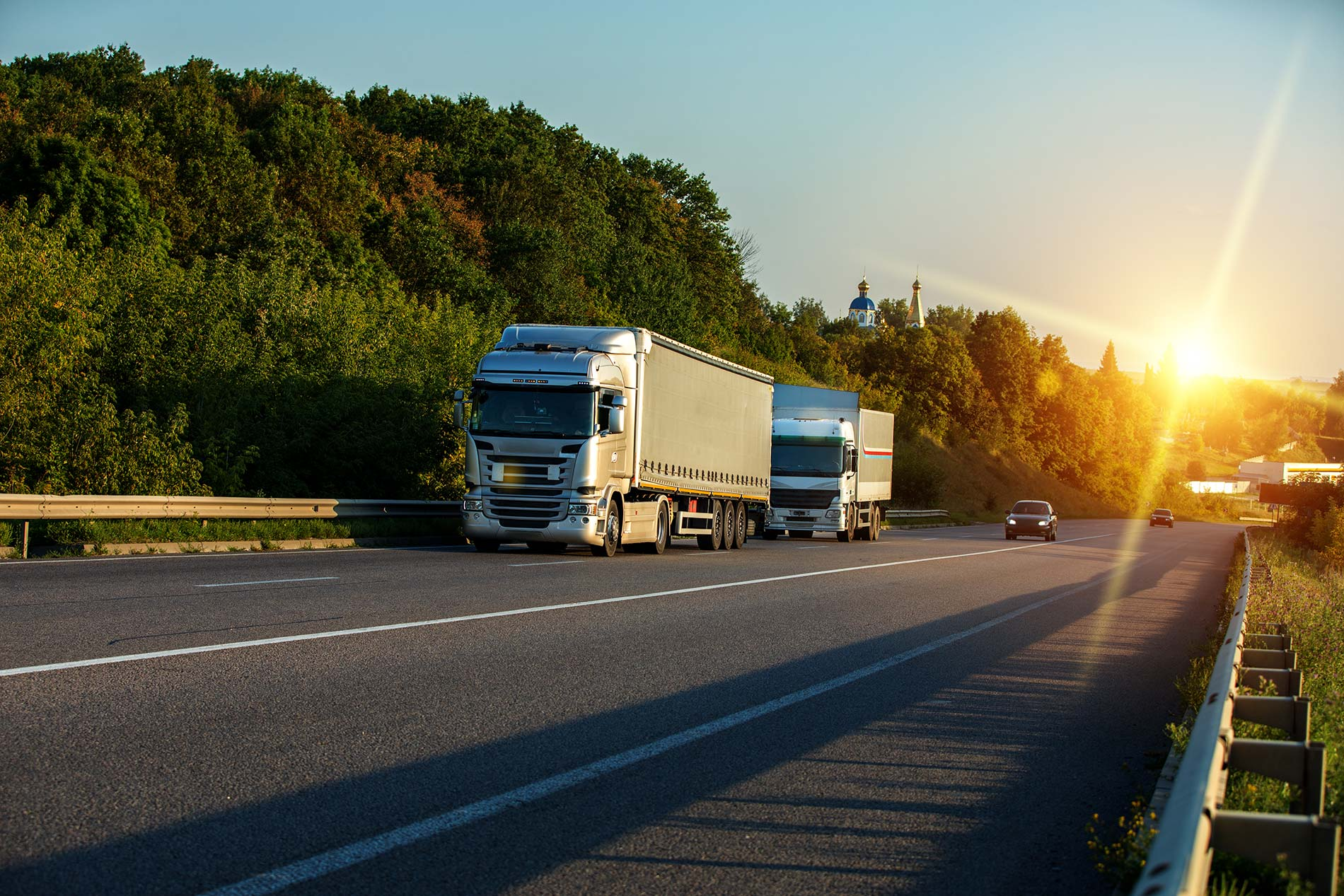 How to drive safe near large trucks