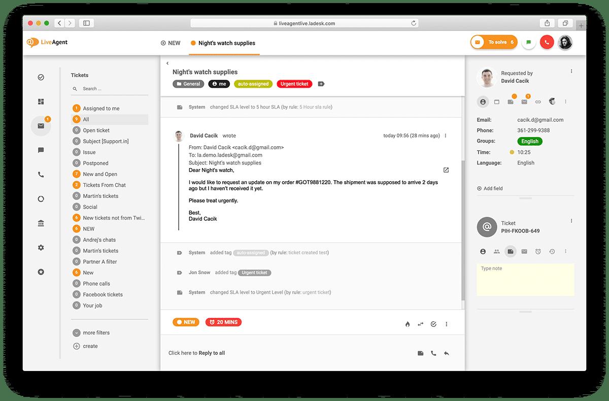 LiveAgent HelpDesk Software