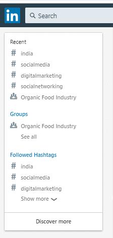 LinkedIn Sidebar