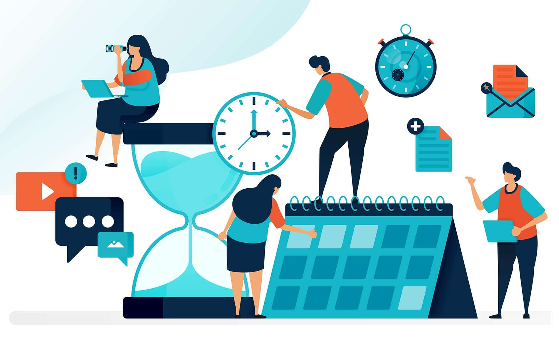 Timer, clock and calendar for productivity management