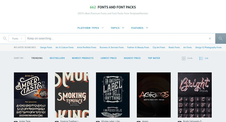 Fonts and Font Packs