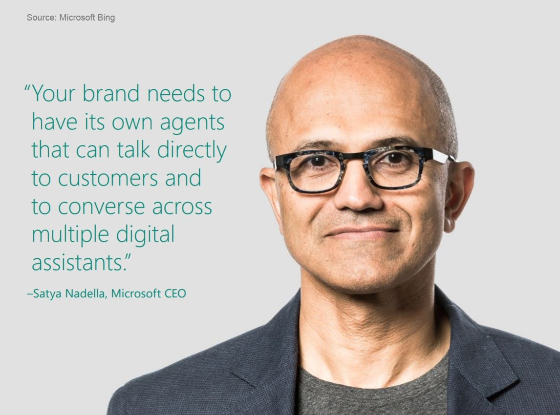 Satya Nadella Microsoft CEO Quote on Voice Search in Business