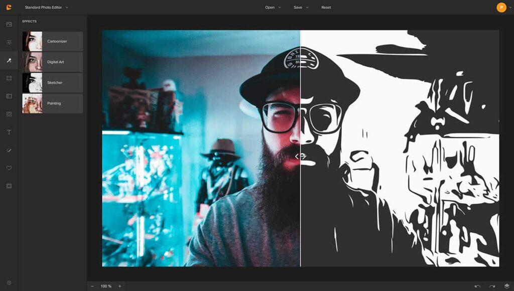 Colorcinch online photo editor cartoonizer