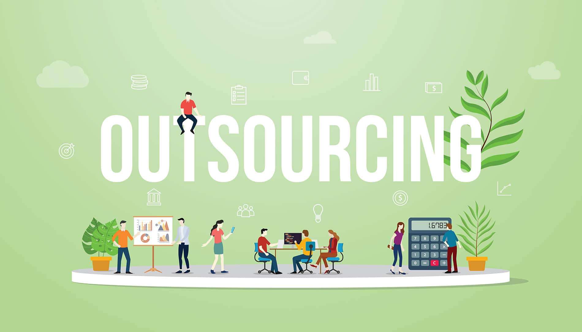 Outsourcing business concept