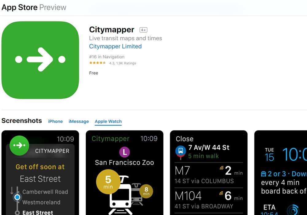 Citymapper - Apple Watch Apps