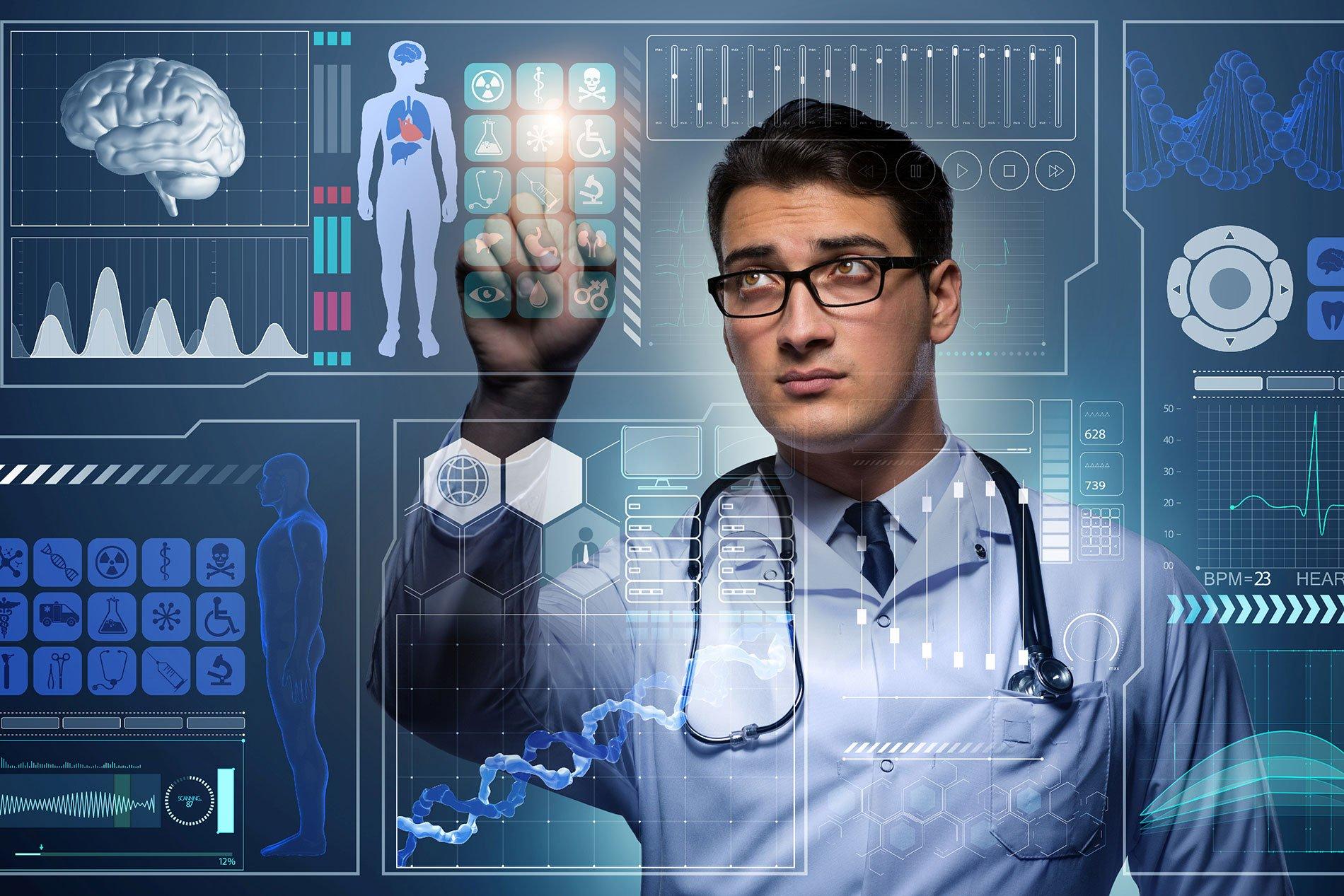 Doctor futuristic medical concept