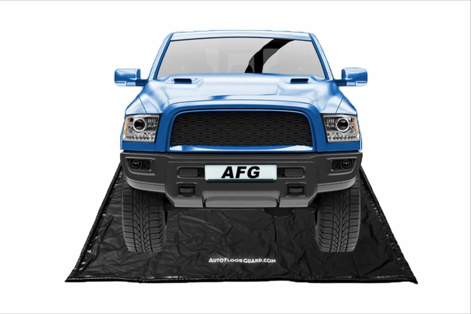 Garage floor containment mats