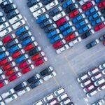 Aerial view of vehicle storage