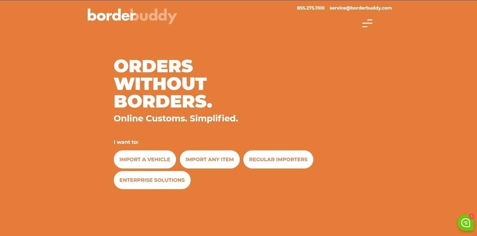 Borderbuddy landing page