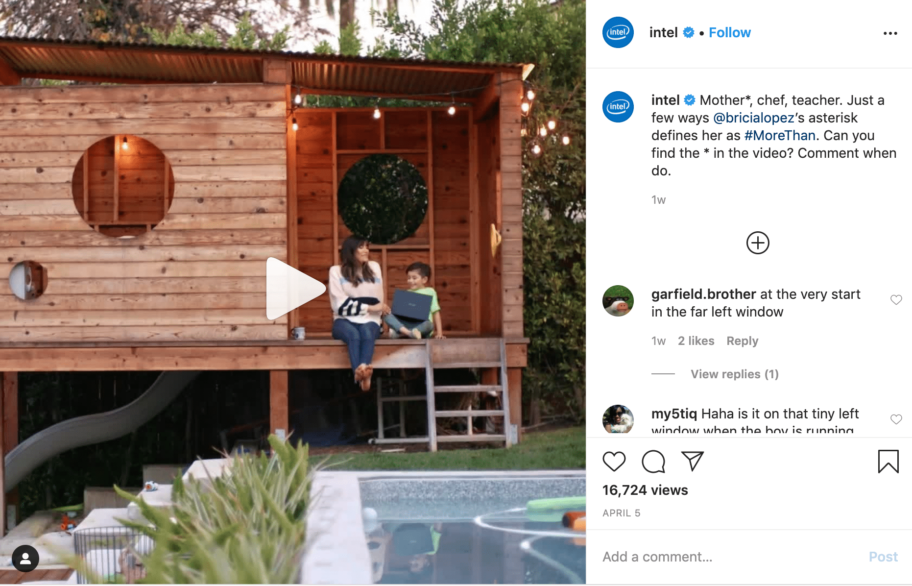 Intel - Mother, chef, teacher video