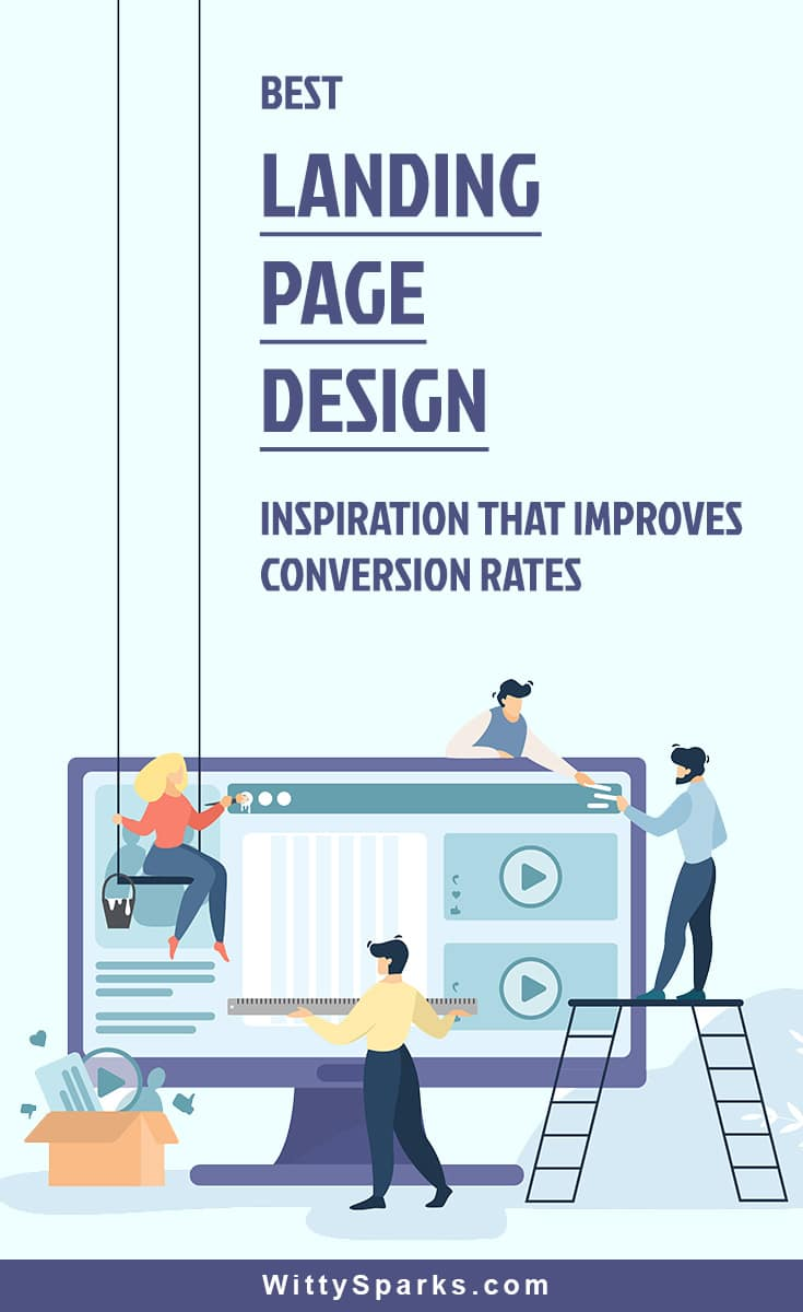 Landing page design inspiration with good conversion rates