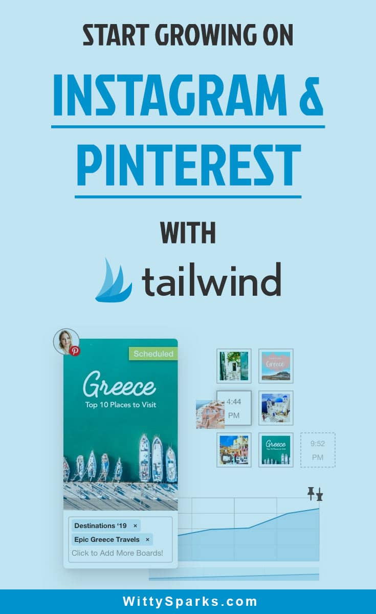 Start growing your instagram and pinterest using tailwind