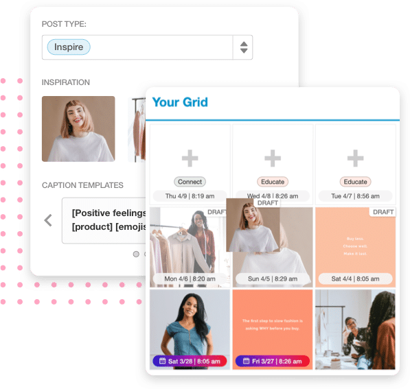Visual planning for Instagram using Tailwind