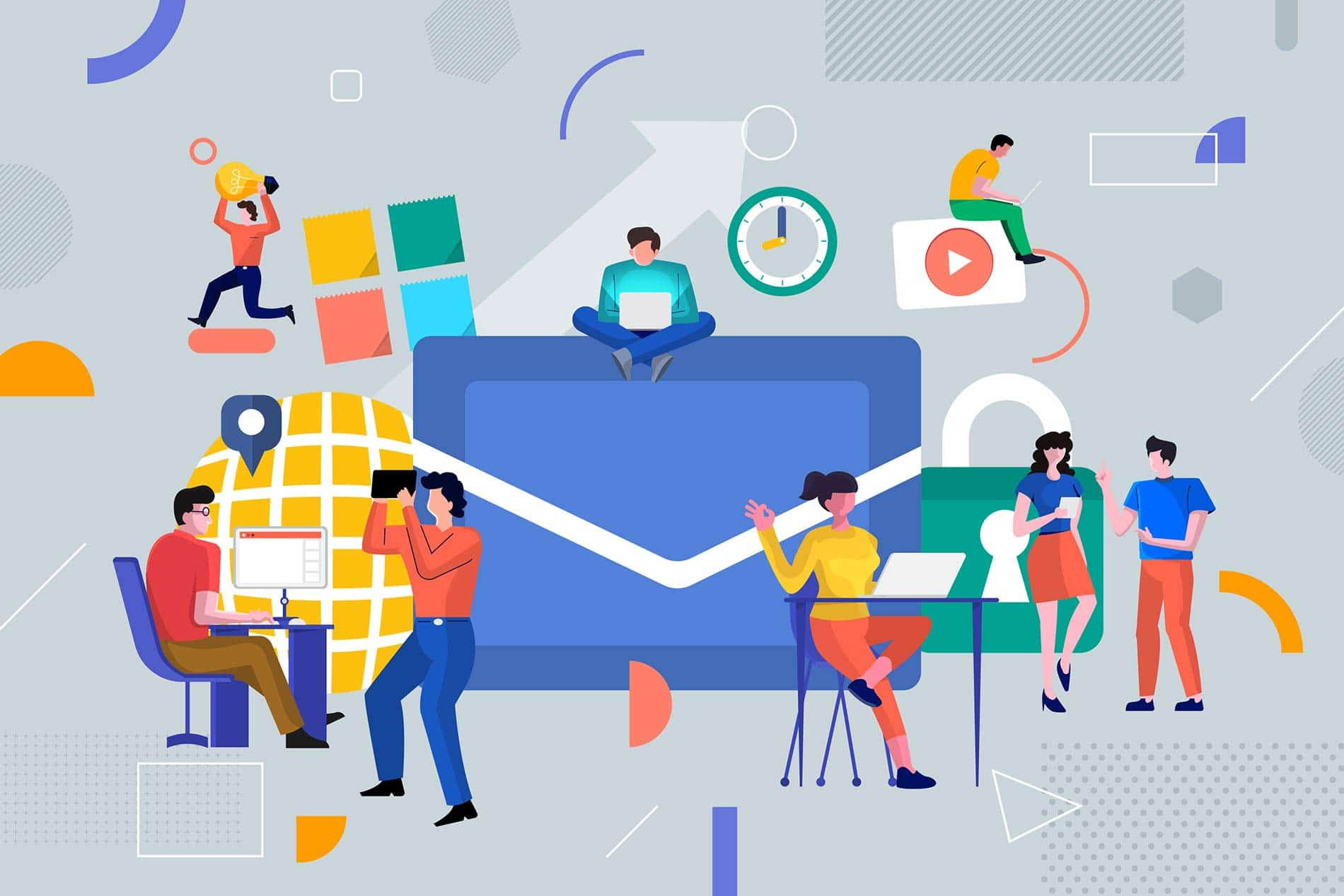 Email marketing strategy with distributed marketing team