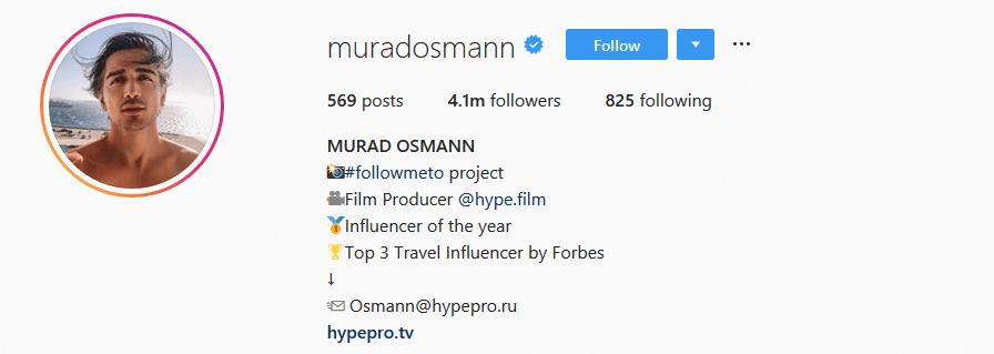 Murad Osmann - Instagram account