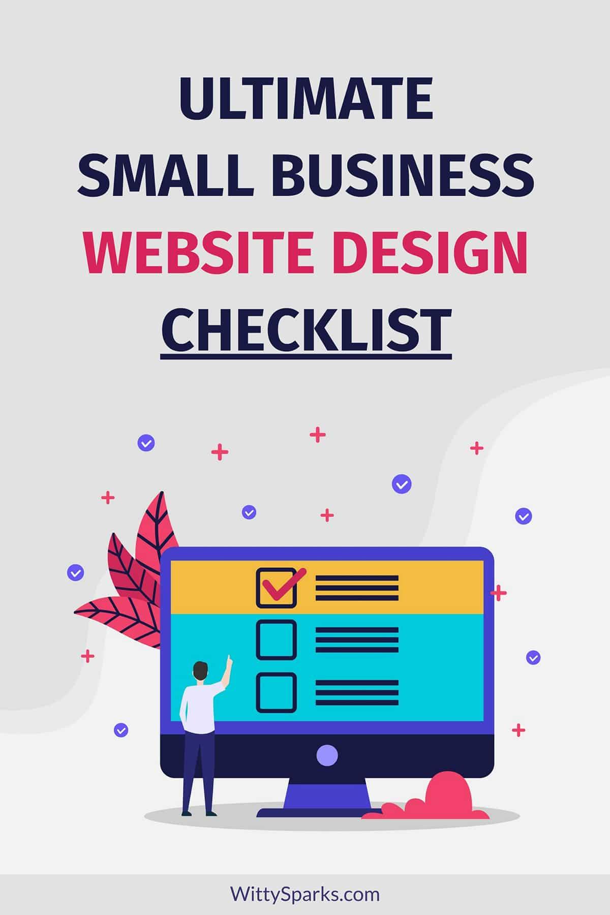 Small business website design checklist