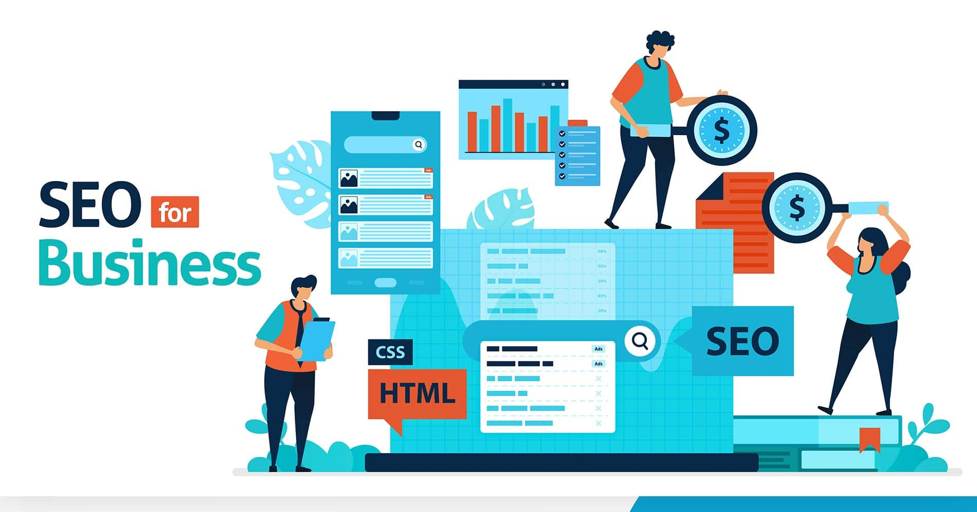 Business marketing optimization with SEO