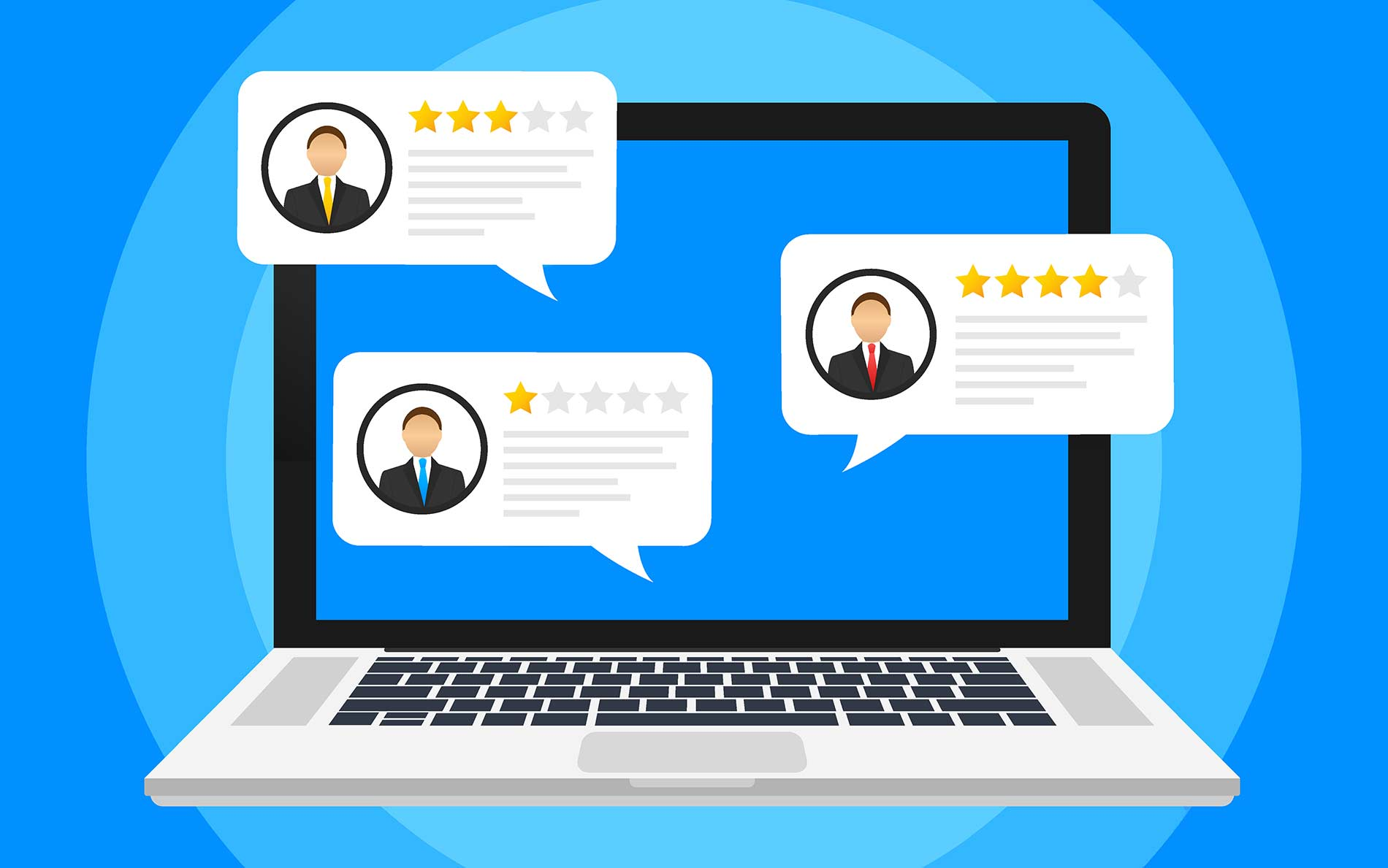 Customer review - online reputation management