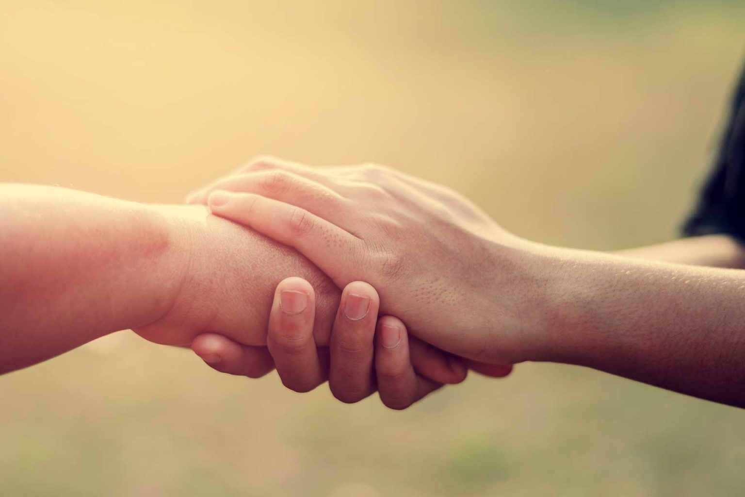 Helping hand - social worker
