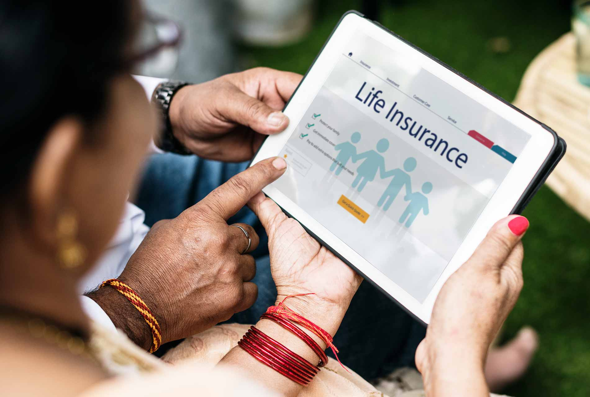 Indian family interested in life insurance claim process
