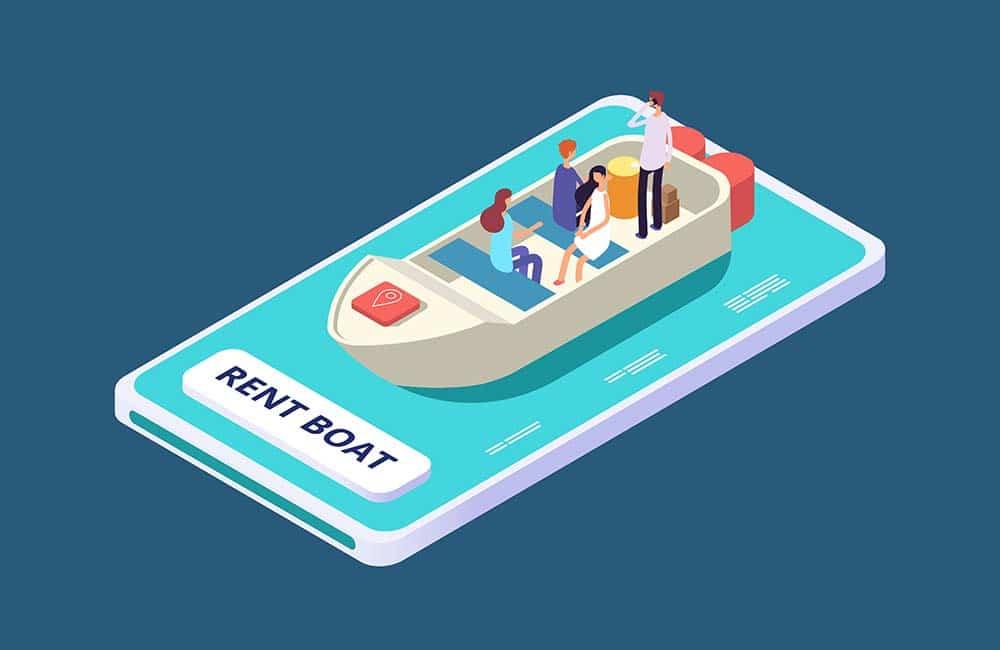Rent a boat mobile app