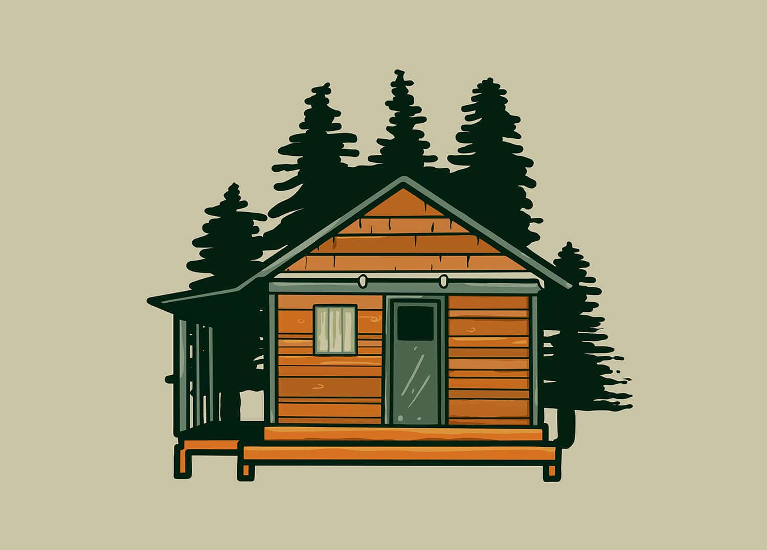 cabin house - tiny home