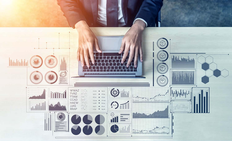 Data analysis business finance concept