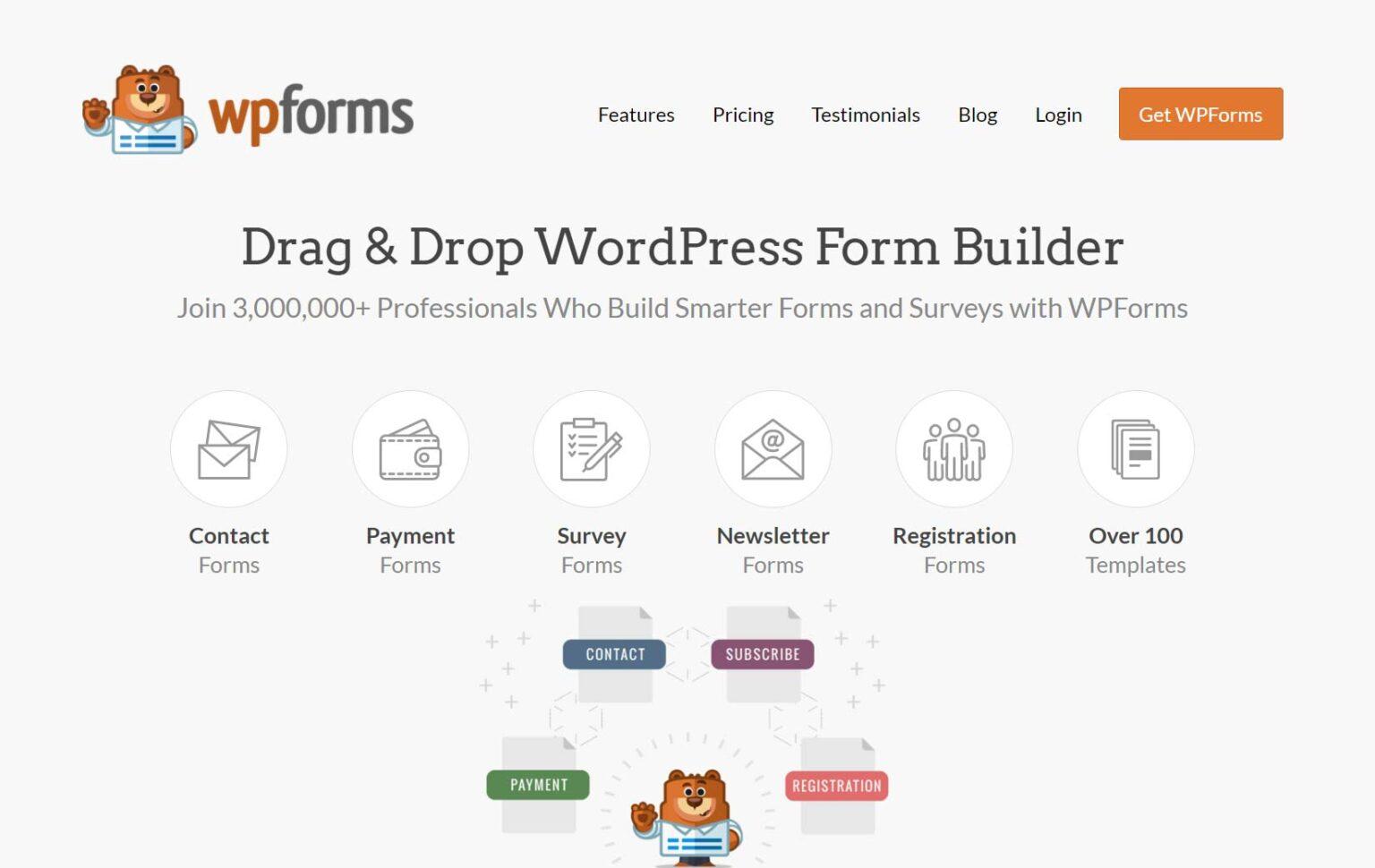 Drag and drop WordPress form builder - WPForms