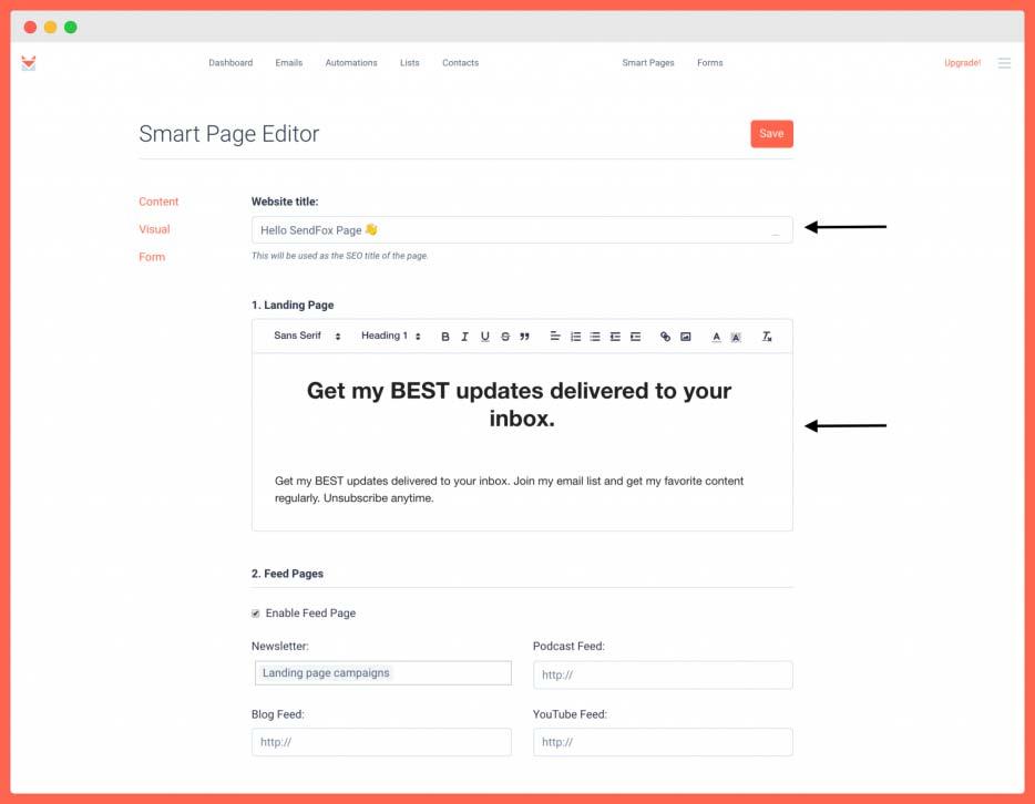 SendFox - Rich HTML editor