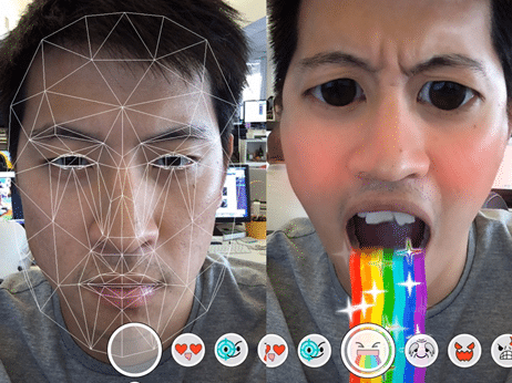 AR image and video filter - Snapchat
