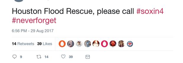 Houston floods twitter hashtags