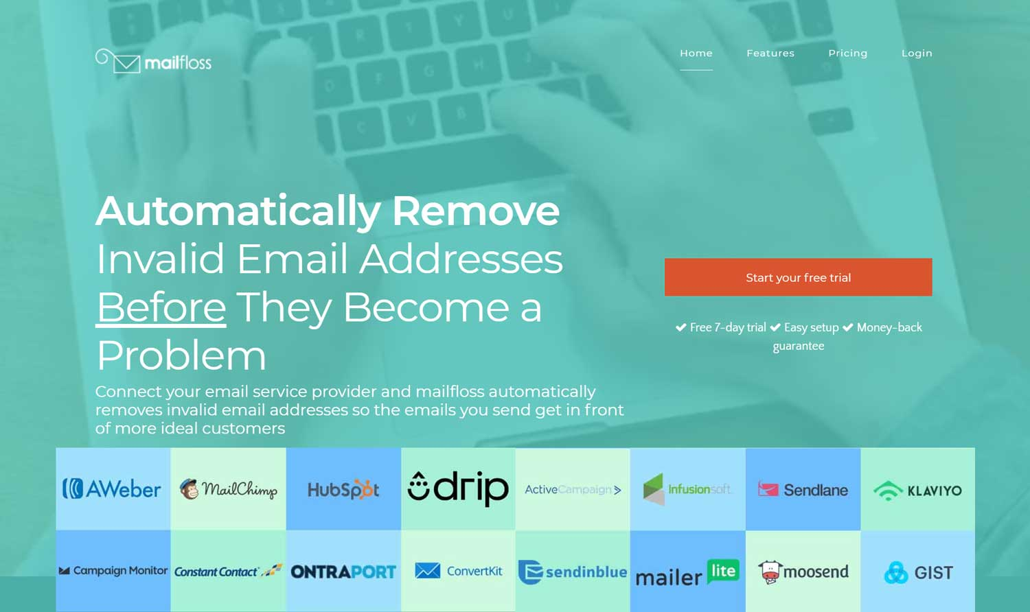 Try out Mailfloss for flawless automation of email verification