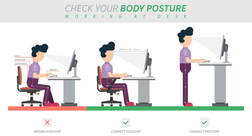 Check your body posture working at desk