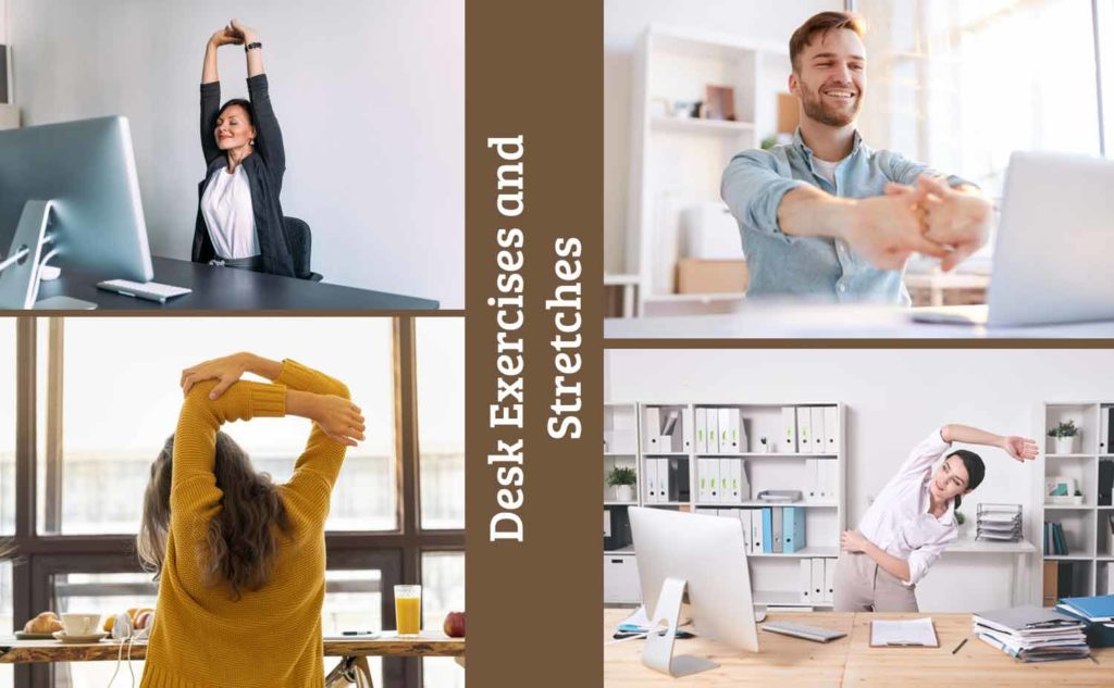 Desk exercises and stretches